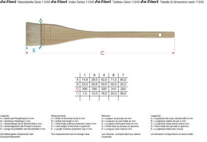 Immagine di Pennellessa Da Vinci serie 11245 in pelo di capra
