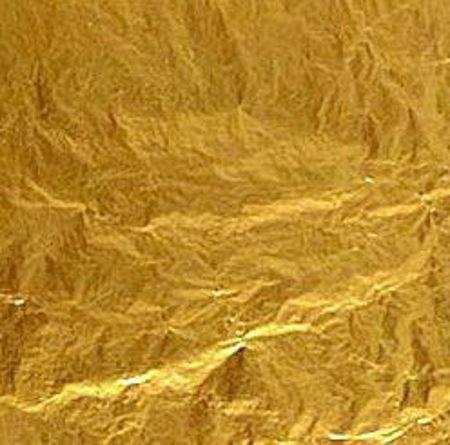 Immagine di Oro vero doppio spessore colore giallo in foglia 22 KT a Decalco