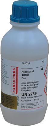 """Immagine di Acido acetico glaciale 99.8% """"Carlo Erba Reagents"""" Lt 1"""