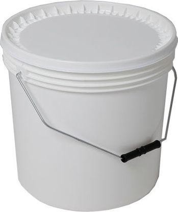 Immagine di Secchio bianco con coperchio