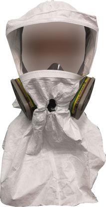 Immagine di Cappucci in Tyvek® con visiera a 3 fori (confezione 5 pezzi)
